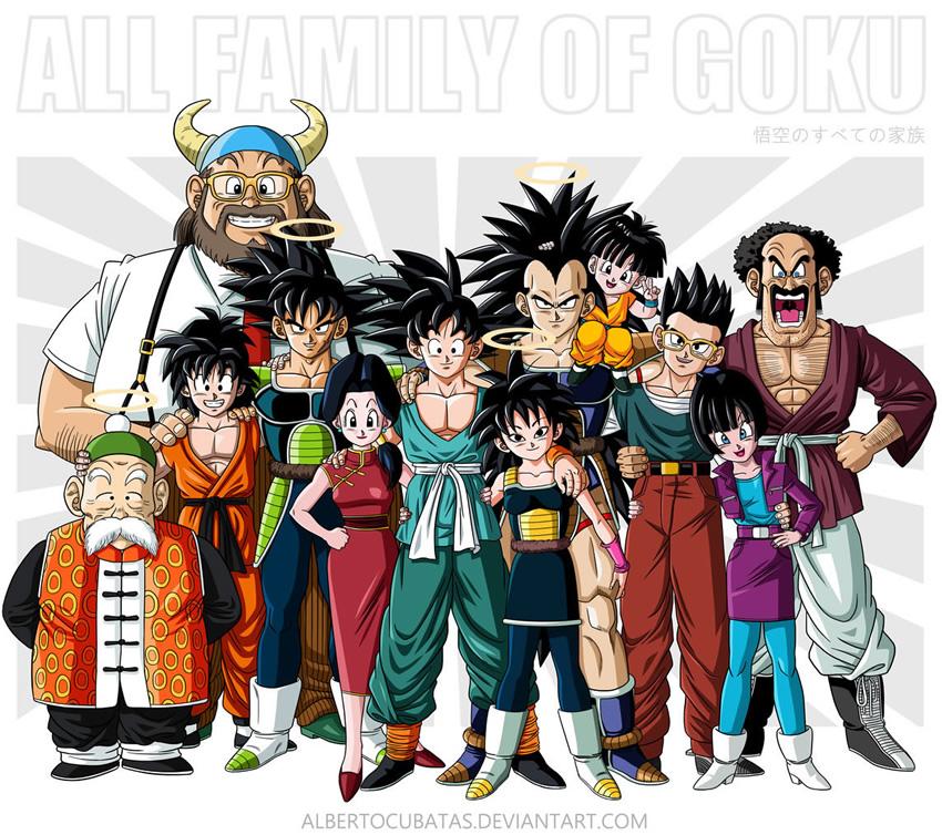 Retratos De Familia De Personagens De Dragon Ball Z Zona Nerd